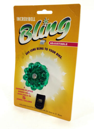 Mirrycle Bling Bicyclette Bell réglable 22.2-31.8 Vert