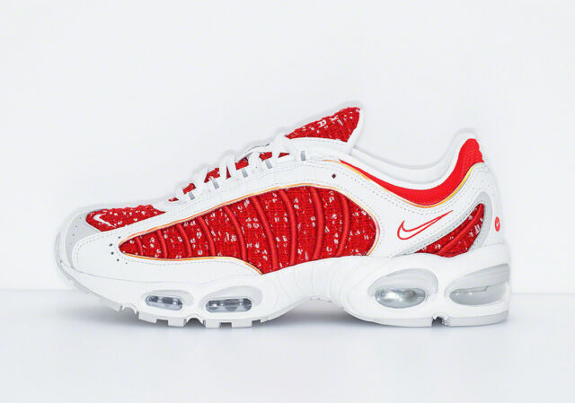 Nike Air Max Tailwind 4 Supreme White At3854 100 Men's Size 9 | Ss19