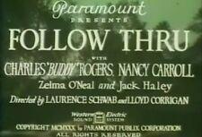 FOLLOW THRU (1930) DVD CHARLES 'BUDDY' ROGERS, NANCY CARROLL
