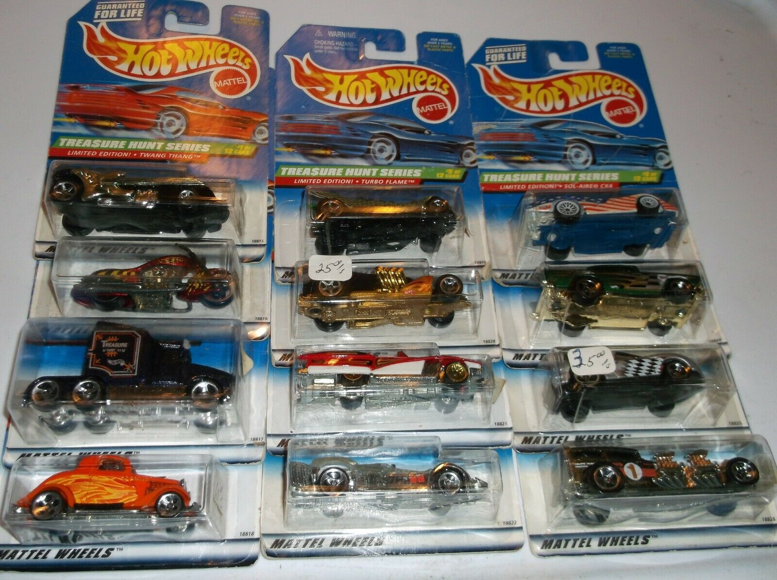 HOT WHEELS  1998 TREASURE HUNT SET COMPLETE NIP LOOSE