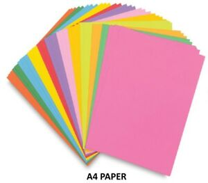250 A4 Paper Sheets 80gsm Coloured Printer Copier Craft Paper