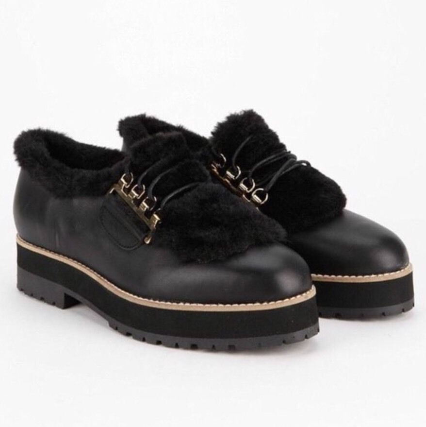 Miista Electra Fur Oxford Flatform Size 10 MSRP     210 New Women Free People 17ad51