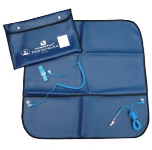 los cables /& Correa De Muñeca Kit de servicio Premium de campo ESD Portátil con bolsa de transporte