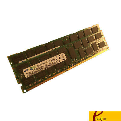 32GB 4x8GB PC3L-12800R DDR3 1600 ECC REG Fr ASRock EP2C602-4L//D16 SSI EEB Server