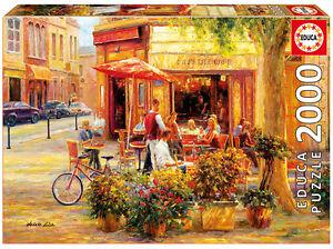 Puzzle-Educa-17130-Corner-Cafe-2000-piezas-Haixia-Liu-Pintura-Arte-teile