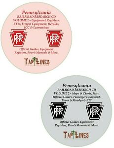 PENNSYLVANIA-RAILROAD-OFFICIAL-GUIDES-EQUIPMENT-REGISTERS-amp-RESEARCH-ON-2-DVDs