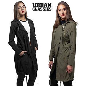 Urban-Classics-Damen-Parka-Asymetric-Ubergangsjacke-Mantel-Damenjacke-Fruehling