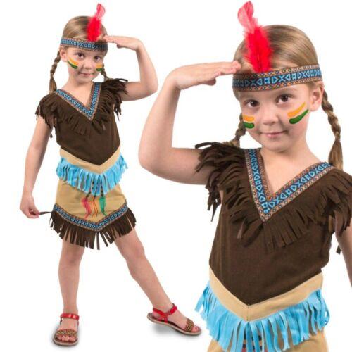 Indianerin Kostüm Gr 98 104 110 Indianer Mädchen Kleid Kinder Karneval #3206