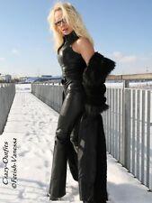 Ledercatsuit Leder Catsuit Schwarz Overall Anzug Maßanfertigung