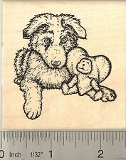 Australian Shepherd puppy Rubber Stamp J50001 WM dog