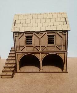 Christmas-Village-or-28mm-War-game-Tudor-Style-large-Barn-2mm-MDF-Laser-Cut-Kit