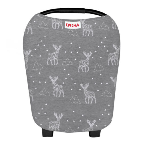 Danha Stretchy Baby Car Seat Covers for Boys and Girls Carseat Canopy Deer