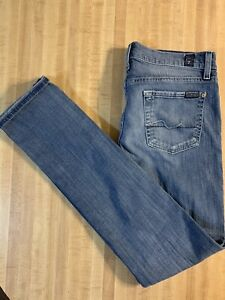 Seven-7-for-All-Mankind-Roxanne-Size-26-Blue-Jeans-Distressed-Ripped