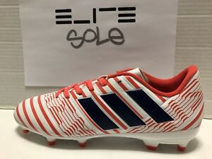 69f74300d40 Adidas Women s Nemeziz 17.3 FG Soccer Cleats White Coral (BY8886) SZ ...