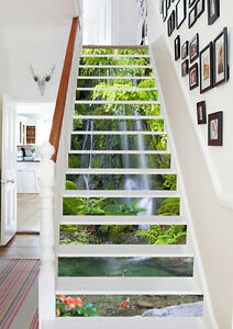 3D Cliff Streams 62 Stair Risers Decoration Photo Mural ...