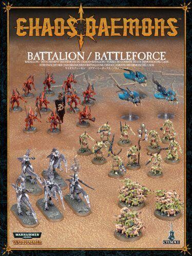 WARHAMMER Chaos - Battalion - Battaglione dei Demoni del Caos NEW Sealed