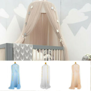 Bed Canopy Mosquito Net For Kids Baby Crib Princess Round Hang Dome Indoor Tent