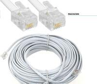 10M Phone Line ADSL Broadband BT Internet Cable Lead RJ11 White Modem Router UK