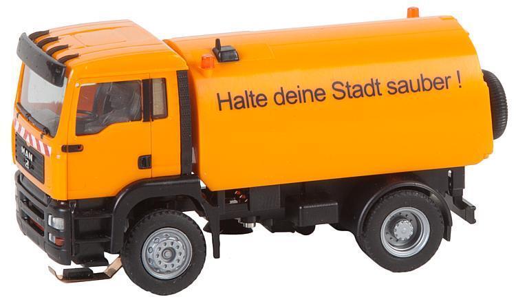 Faller 161482 Ho Coche System Camión Man TGA Barrendero (Herpa)   Nuevo en Emb.