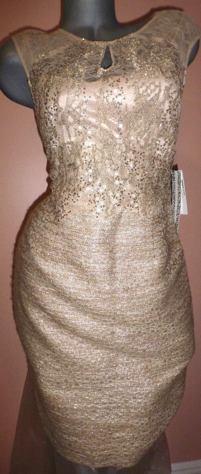KAY UNGER NEW YORK  SEQUIN WOMAN'S DRESS SZ-6 NWT