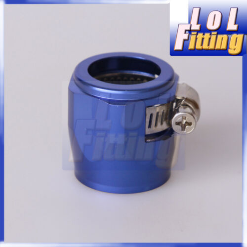 4 AN 4 Fuel Hose Clamp Finisher HEX Finishers Blue AN