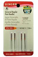 Singer Standard Point Needles, Size 11, 4 Pack