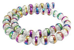 Cristal-de-Roca-bolas-10mm-agrietado-amp-con-regenbogen-streifen-Perlas-berg-52