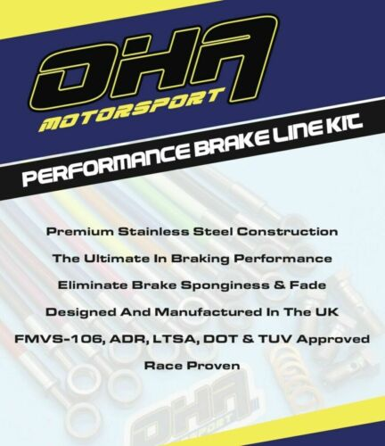 OHA Stainless Braided REAR Brake Line Kit for Yamaha VMAX V-MAX 1200 1985-2003