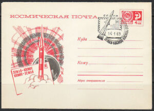 Soviet Russia 1968-12-31 space cover 6019 Earth Space Earth.Spacemail Post RARE