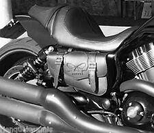 trousse latérale en Cuir Tête de Mort SKULL Pour Harley V-rod / night rod vrod