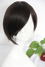 Premium Full Head Wig - Short Dark Brown Bob w/ Side Fringe