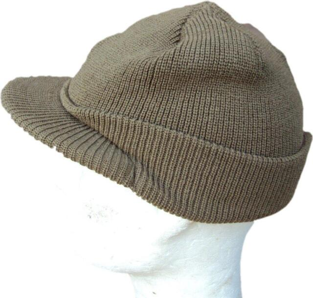 WWII Type M1941 US Army Military OD Knitted Wool Woollen Jeep Cap   Beanie  Hat 9ac42632822