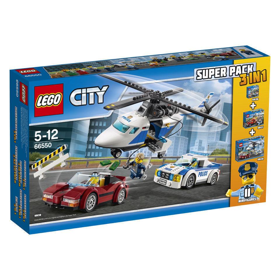 66550 Lego City, Lego City 3 In 1,(3 set bundle 60136 + 60137 + 60138),NEW