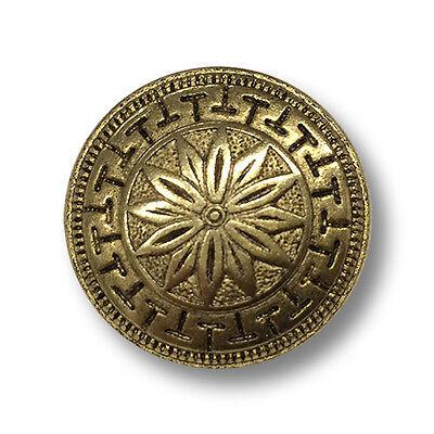 10 Stück Knöpfe Knopf Ösenknopf Metallknöpfe  14 mm altgold NEUWARE #982#