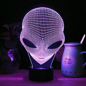 3d Pop Eyed Led Illuminated Alien Illusion Light Sculpture