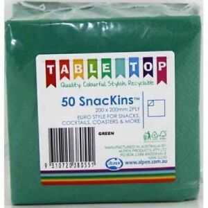 GREEN-SNACKINS-NAPKINS-PACK-OF-50-BIRTHDAY-PARTY-COCKTAIL-NAPKINS