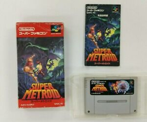SUPER-METROID-With-Box-Nintendo-Super-Famicom-SFC-SNES-Japan-USED