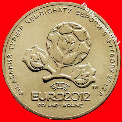 "Ukraine 1 hryvnia 2012 km#668 /""EURO 2012 Poland-Ukraine/"" UNC Football"