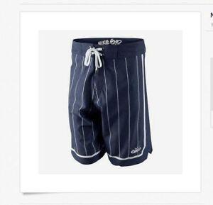 Nike-sz-32-Men-039-s-6-0-Skateboarding-Boardshorts-Shorts-NEW-90-418375-410-Navy