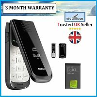 New Condition CLassic Flip Nokia 2720 Fold Black Mobile Phone Brand Easy to Use