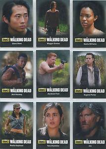 Walking Dead Season 4 Part 2 Character Bio 9 Card Chase Set