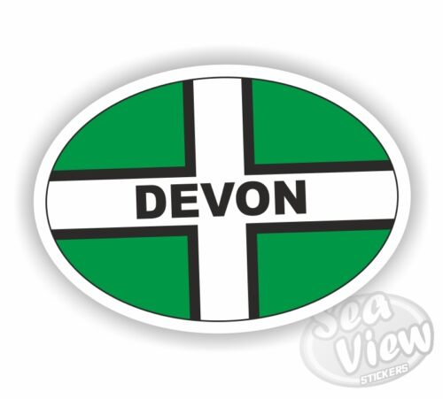 Devon Oval Sticker Stickers Flag Car Van Decal
