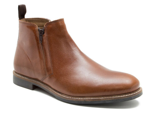 Chelsea Zip Uk up Tan Red Tabley Tape Leather P Hombre Boots Free p q0ZqUXw