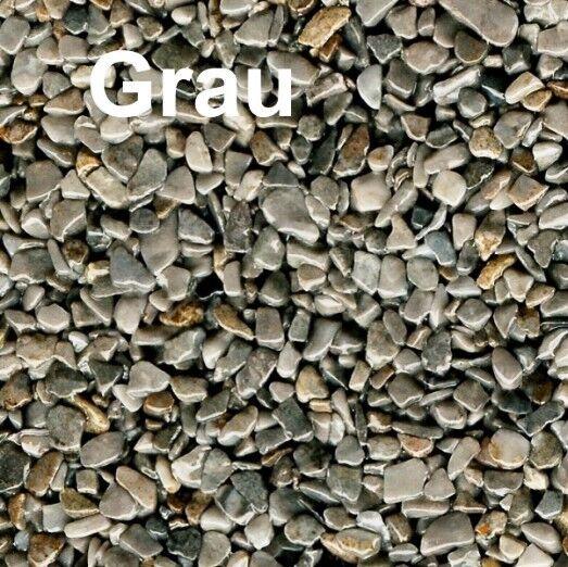 25 kg SET Grau Steinteppich Aussenbereich +LF68-Bindemittel AUSSEN 1-4 mm