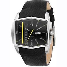 Diesel DZ1340 Gents Black Dial Black Leather Strap Watch NO RETAIL BOX OR BOOK