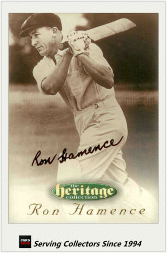 1996 Futera Cricket Heritage Collection Signature Card NO6 Ron Hamence