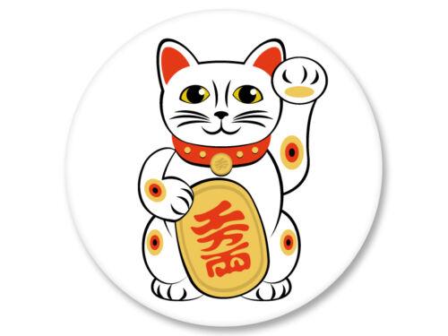 Magnet Aimant Frigo Ø38mm Maneki Neko Chat Porte Bonheur Japan Kawaii