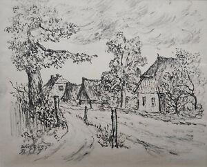 Schultze-Jasmer-Theodor-1888-Oschatz-1975-Prerow-034-Dorfstrasse-in-Wiek-034