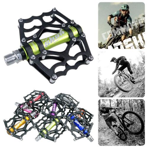 1 Pair MTB Mountain Bike Pedals Cycling Bicycle Bearing Pedal Flat Platform UK