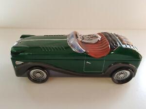 LAMBERTZ-Vintage-Tin-Car-Automobile-Storage-Biscuit-Cookie-Jar-Pot-EXCELLENT